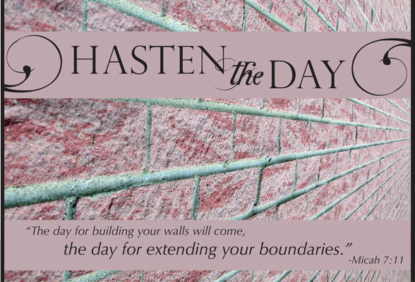 Hasten The Day Page Banner