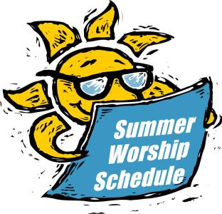 Summer Worship Schedule