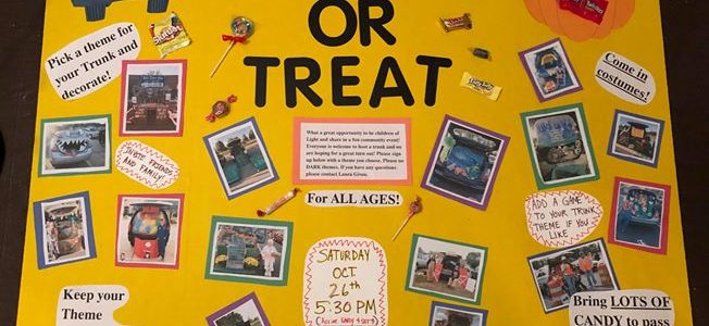 Trunk or Treat – October 26th, 5:30 pm